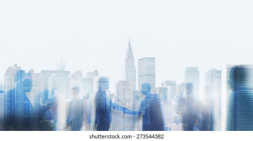 Business Handshake Agreement Deal White Collar Worker Concept