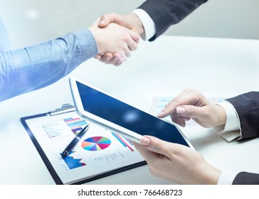 Business, handshake, businessman.