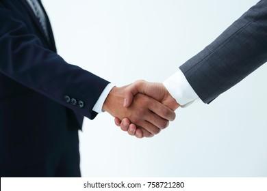 Business handshake - closeup shot