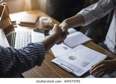 Business handshake and business dealings