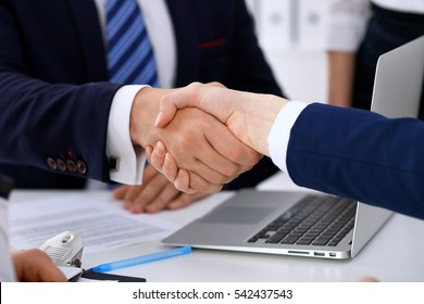 Handshake Woman Man Images, Stock Photos & Vectors