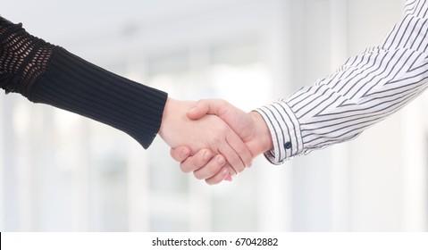Business handshakeing