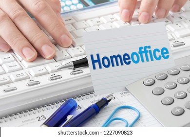 Business  Homeoffice  -  Working concept