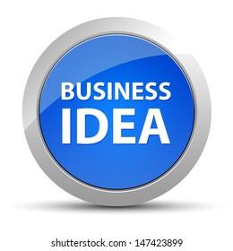 Business idea blue button