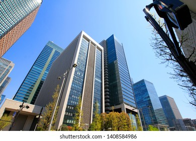 Business image with skyscrapers of Marunouchi, Tokyo