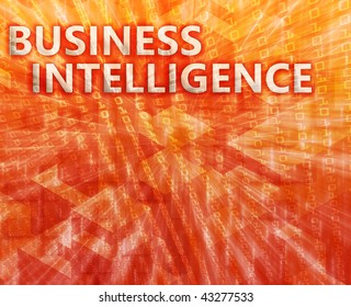Business intelligence abstract, computer technology concept illustration