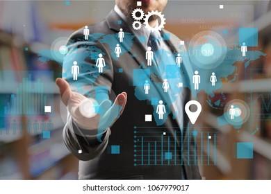 Business Internet security concept