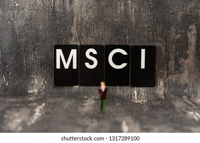 Business investment concept picture - MSCI