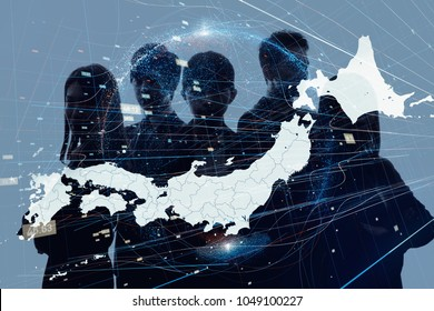 Business of Japan concept.