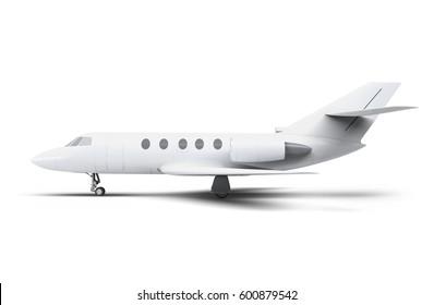 Business Jet Airplane Mock-Up 3D illustration