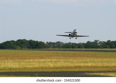 Business jet departure