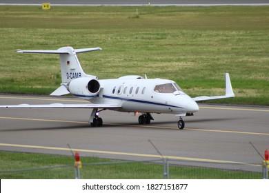 BUSINESS JET. Private Learjet 31A D-CAMB at Vilnius airport (June 2020, Vilnius/Lithuania)