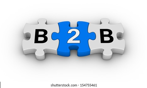 business to business jigsaw puzzle symbol