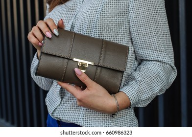 Business lady with bag