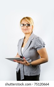 Business Lady with Pad