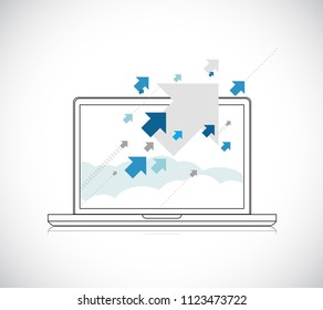 business laptop vector illustration concept. isolated over a white background