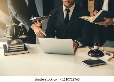 Business lawyer team. Working together of lawyer in the meeting.