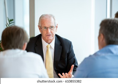 Business Leader Proposing Idea During Negotiations