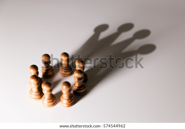 business leadership, teamwork power and confidence concept