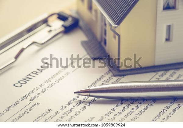 Business Legal Document Contract Agreement Concept Stock