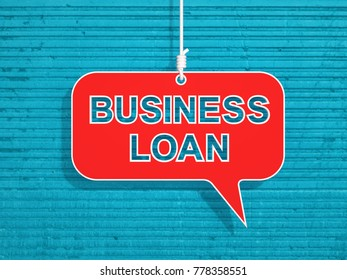 Business Loan Concept - 3D Rendered Image