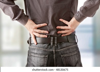 Business man with back pain