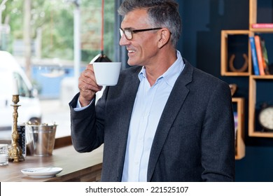 business man in cafe