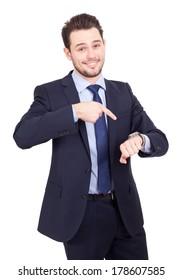 Business man clock