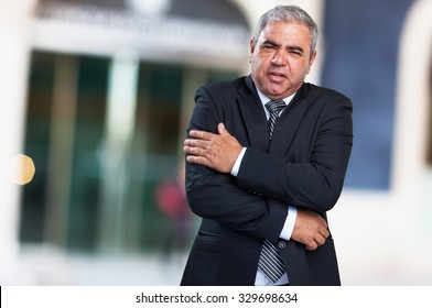 business man cold gesture