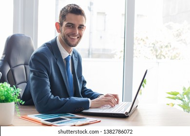 business man with computer in the office