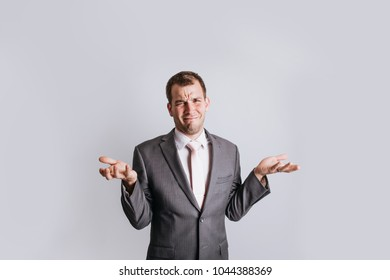 Business Man with Expression