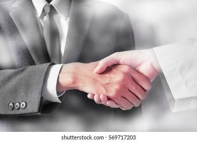 business man hand shake