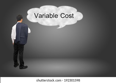 business man hand writing Variable Cost