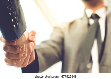 Business Man. Business handshake and business people