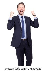 Business man happy