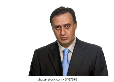Business man isolated over a white background