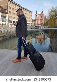 Business man in Ljubljana