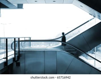 business man move blur