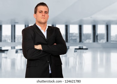 A Business man at the office