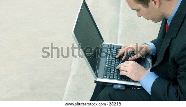 business man on his laptop