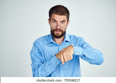 business man on a light background portrait