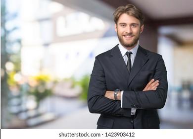 Business man portrait. close up