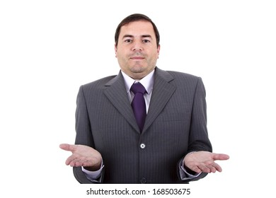 business man portrait on a white background