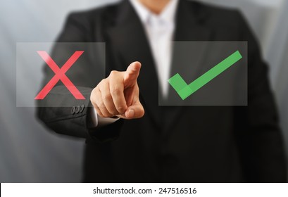 business man select choice