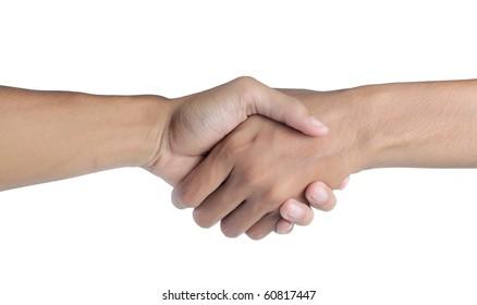 business man shake hand