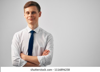 business man in shirt and tie