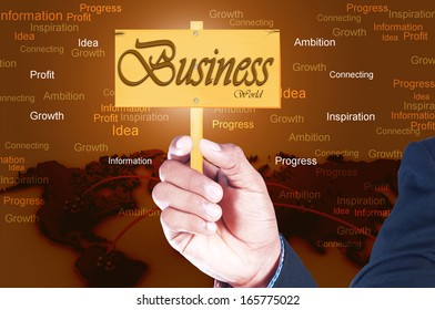 business man showing a business card