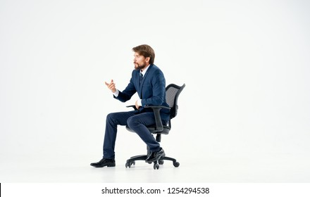 Business man sitting in the chair
