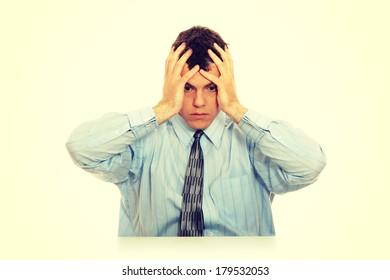 Business man stress or depression
