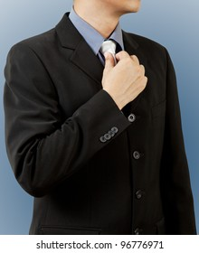 business man in  suit and tie